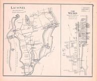Laconia, The Weirs, New Hampshire State Atlas 1892 Uncolored
